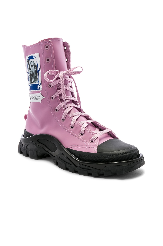 adidas by Raf Simons Detroit Hi-Top Sneaker in Vaporchid & Black