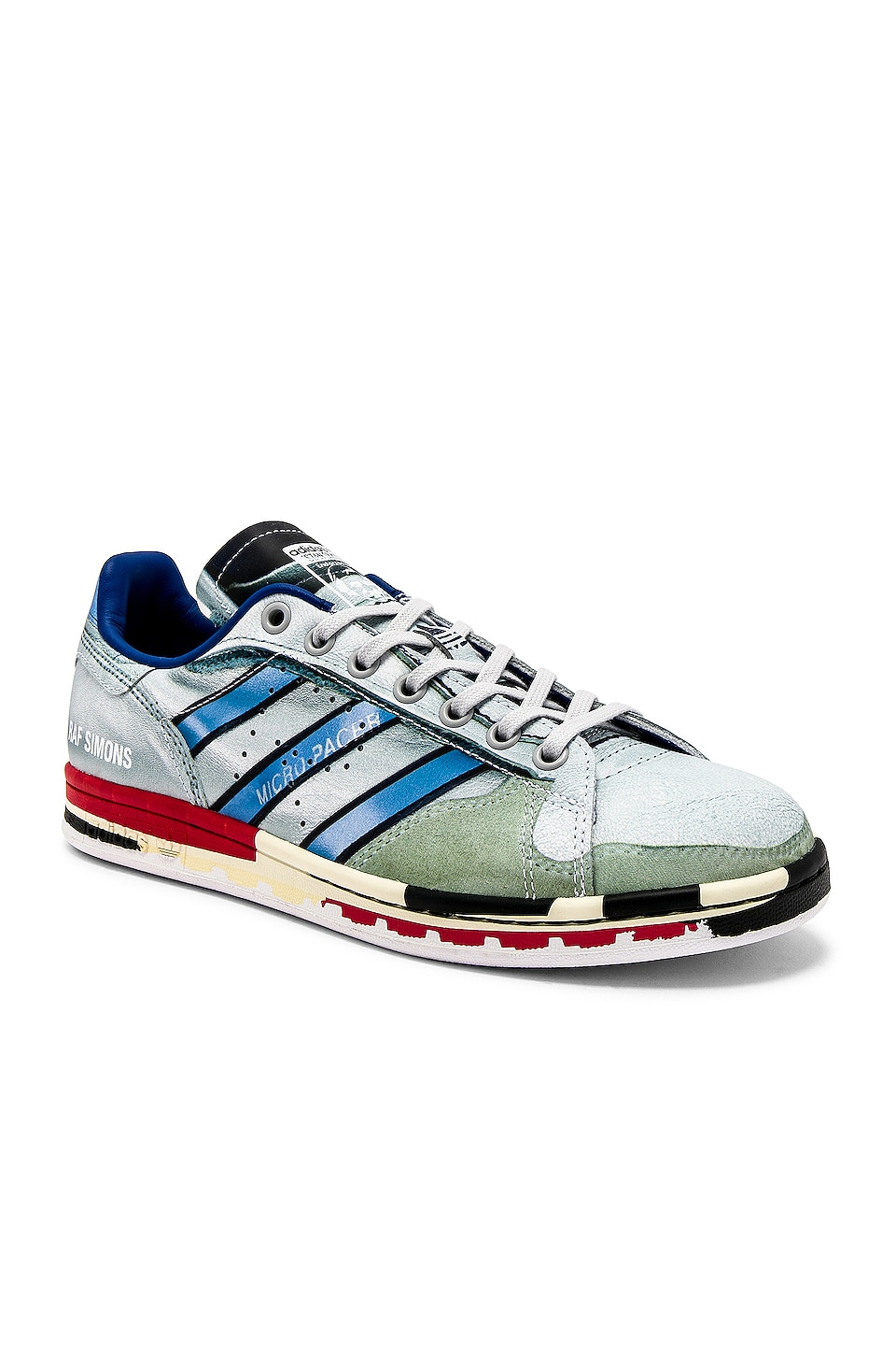 adidas by Raf Simons Micro Stan Sneaker in White & Multi
