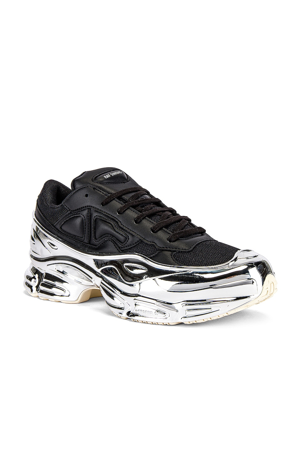 adidas by Raf Simons Ozweego Sneaker in Black & Silver