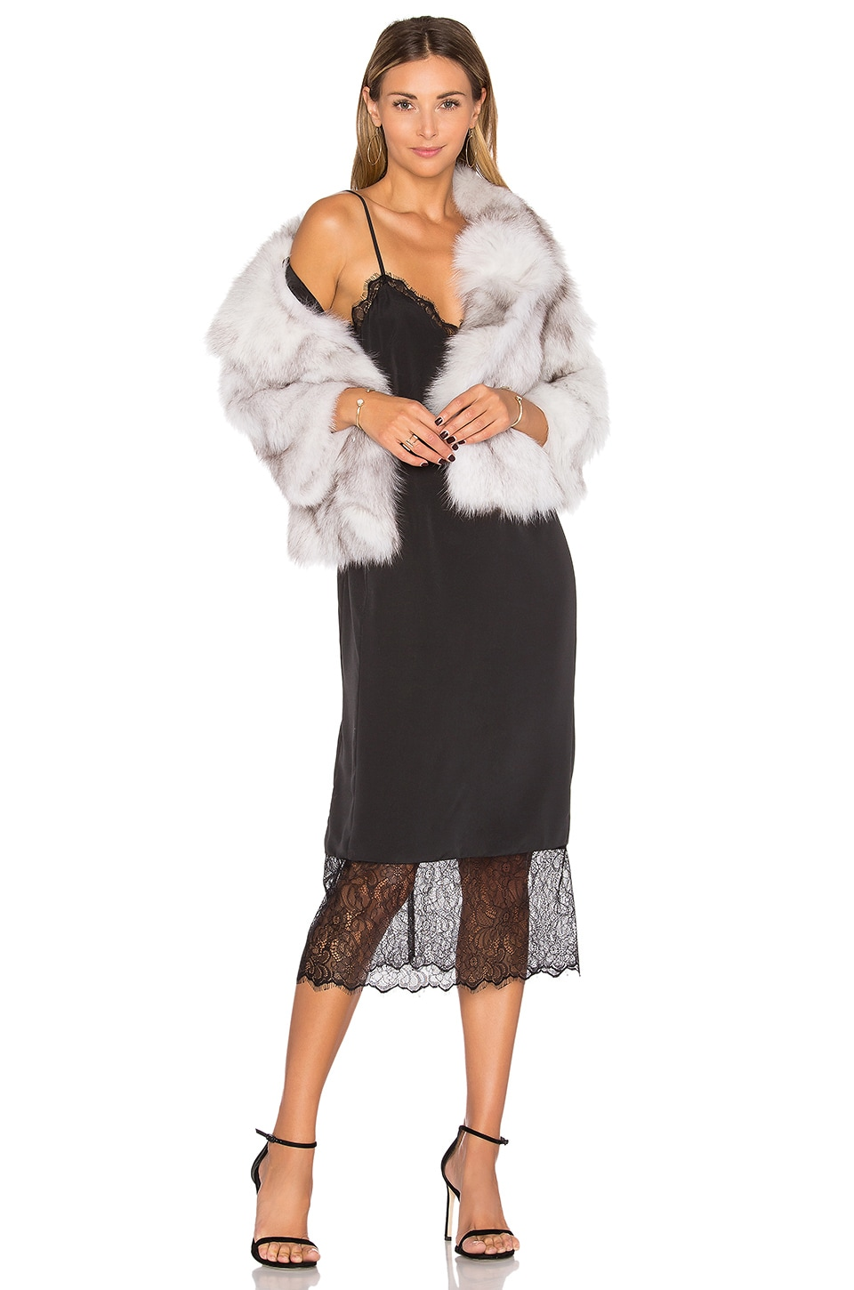 Fox Fur Jacket by Adrienne Landau