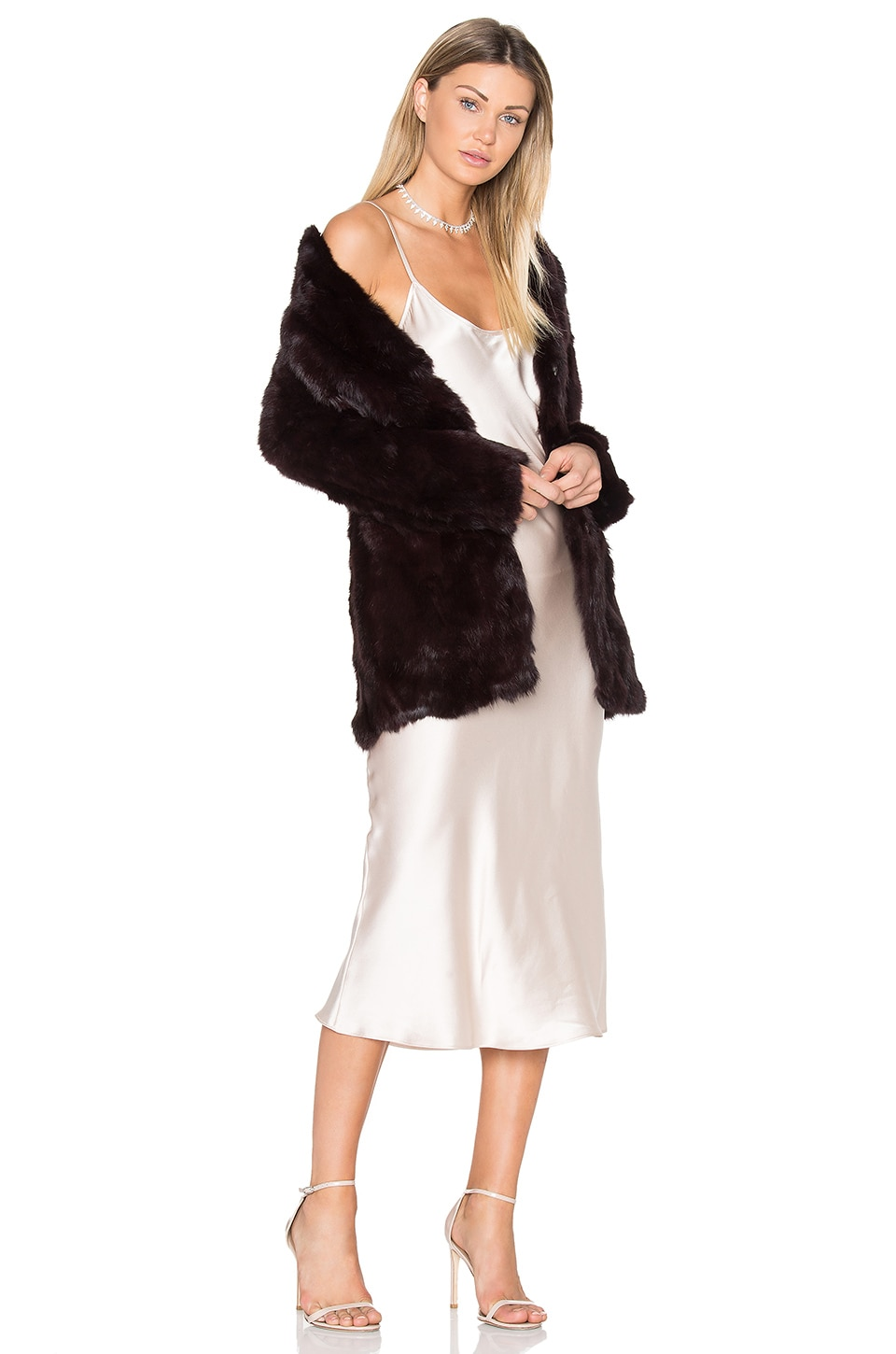 Rabbit Fur Coat by Adrienne Landau