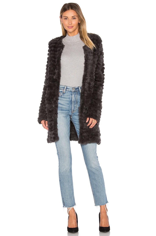 Knit Rabbit Fur Coat by Adrienne Landau