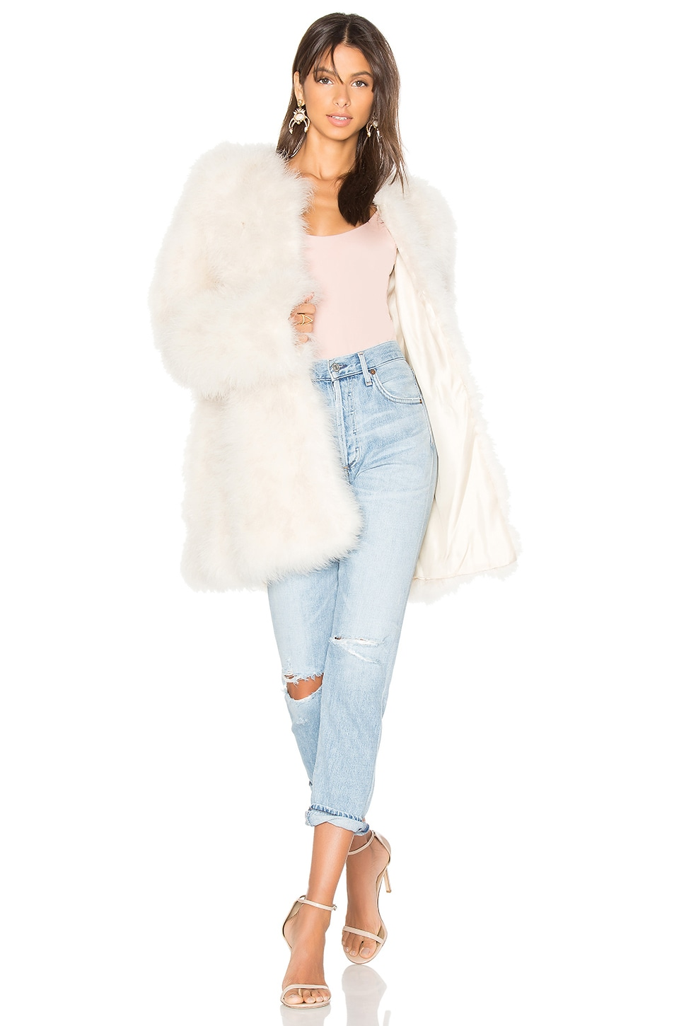 Marabou Feather Coat by Adrienne Landau