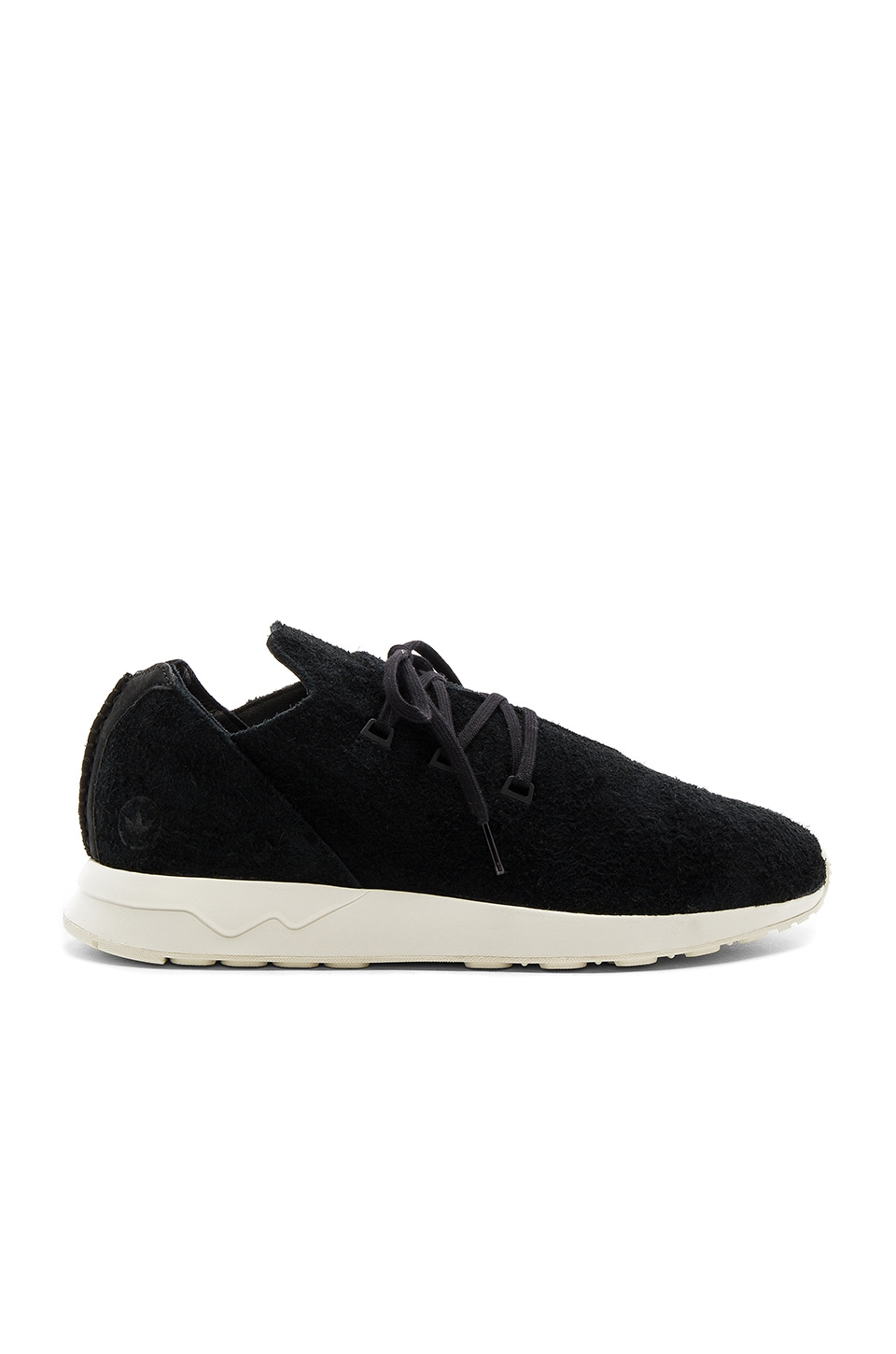 sale retailer 713b4 60047 adidas by wings + horns WH ZX Flux X in Black   REVOLVE