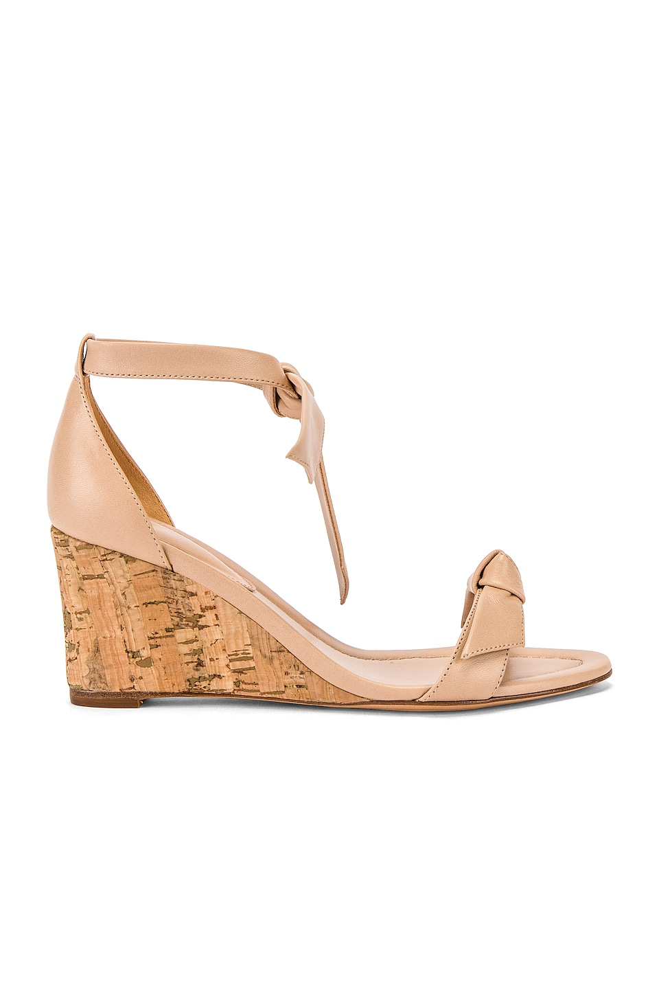 Alexandre Birman Clarita Wedge in Light Sand & Natural