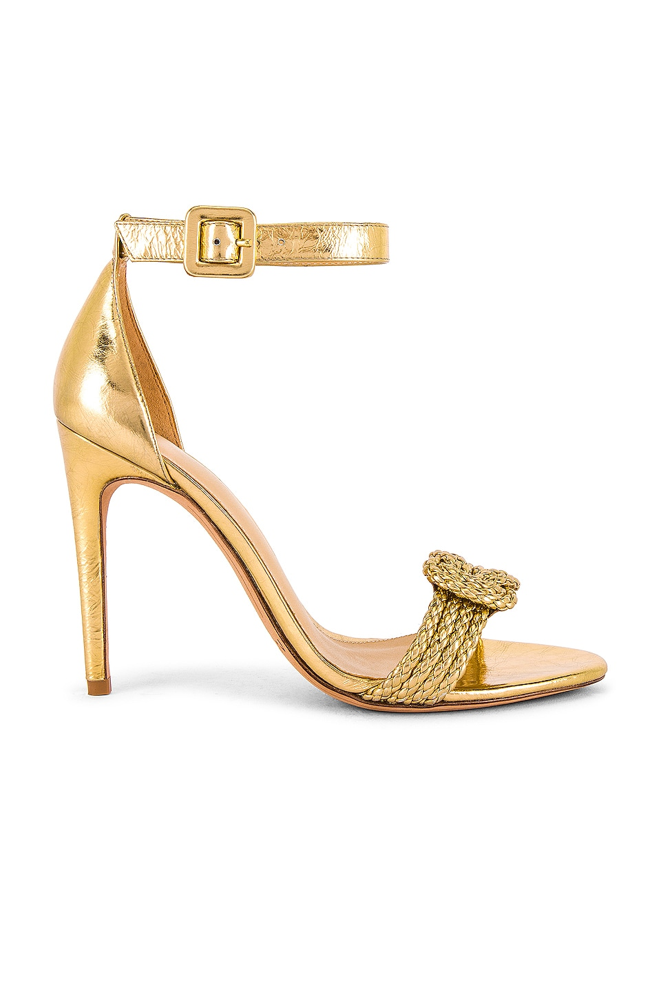 Alexandre Birman Vicky Braid Sandal in Golden