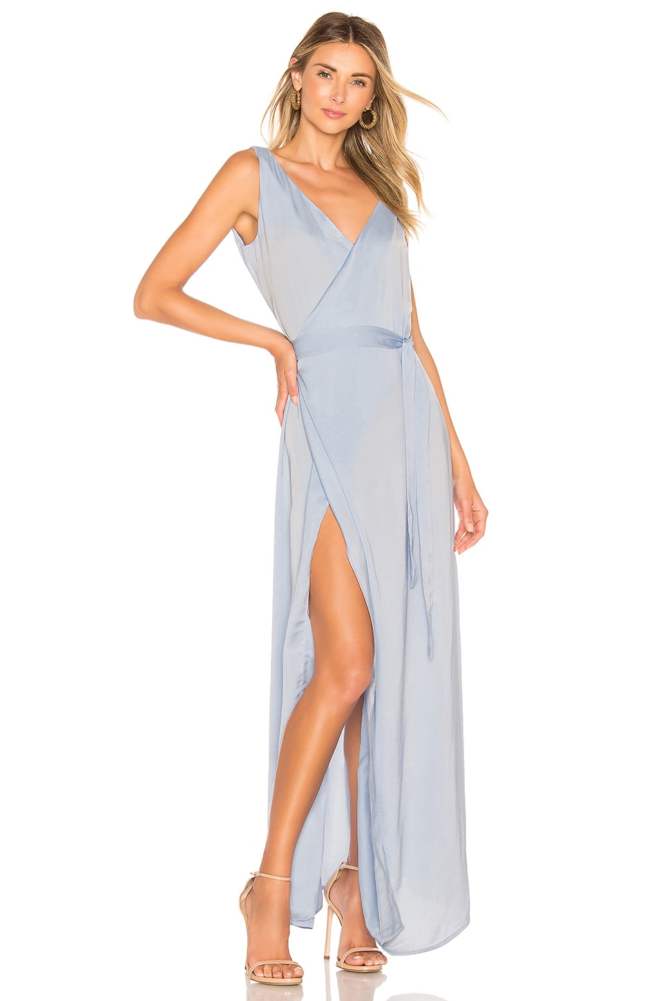 Aeryne Emanuelle Dress in Bleu Ciel
