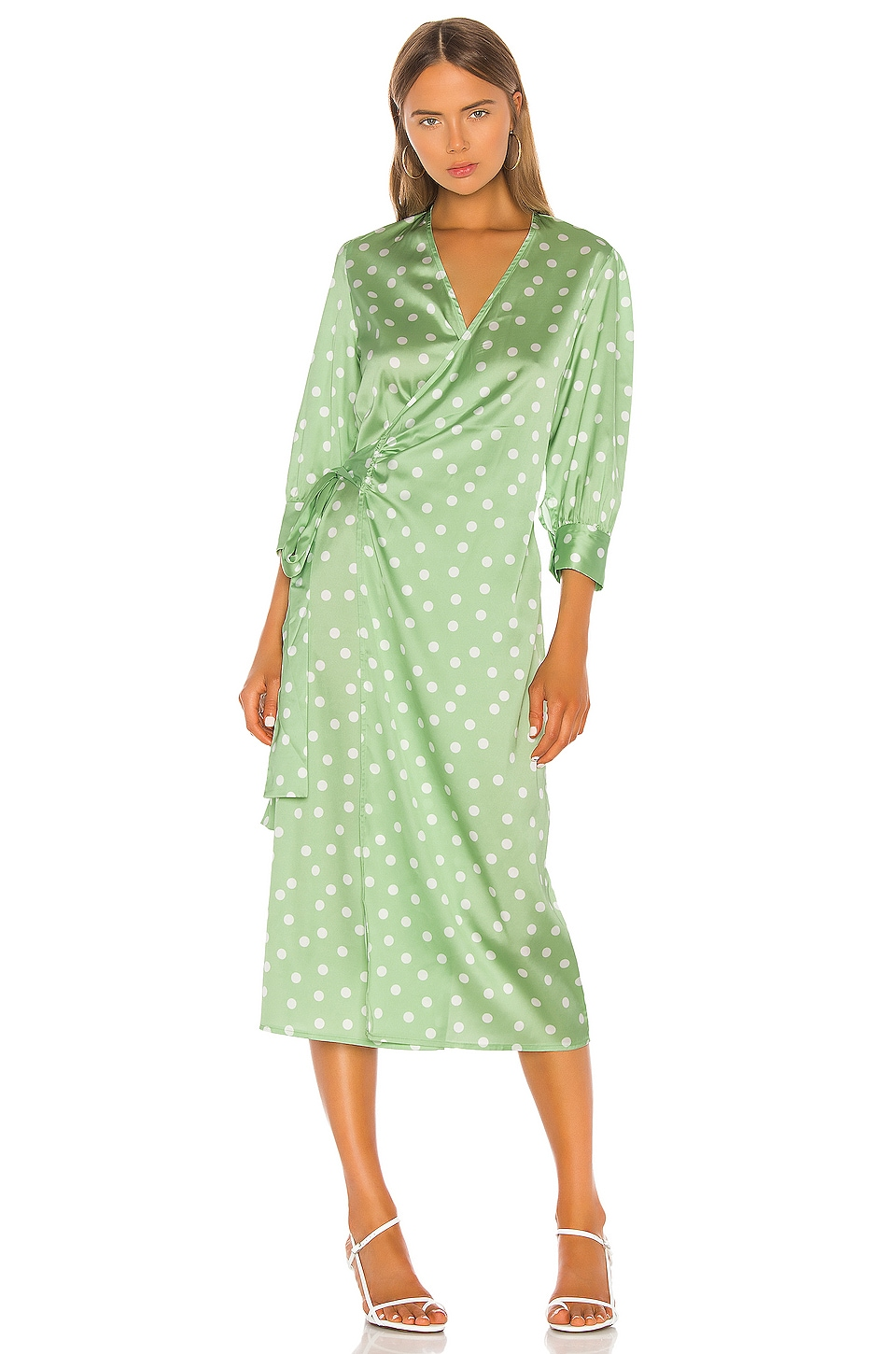 Aeryne Cowry Dot Dress in Mint Dot