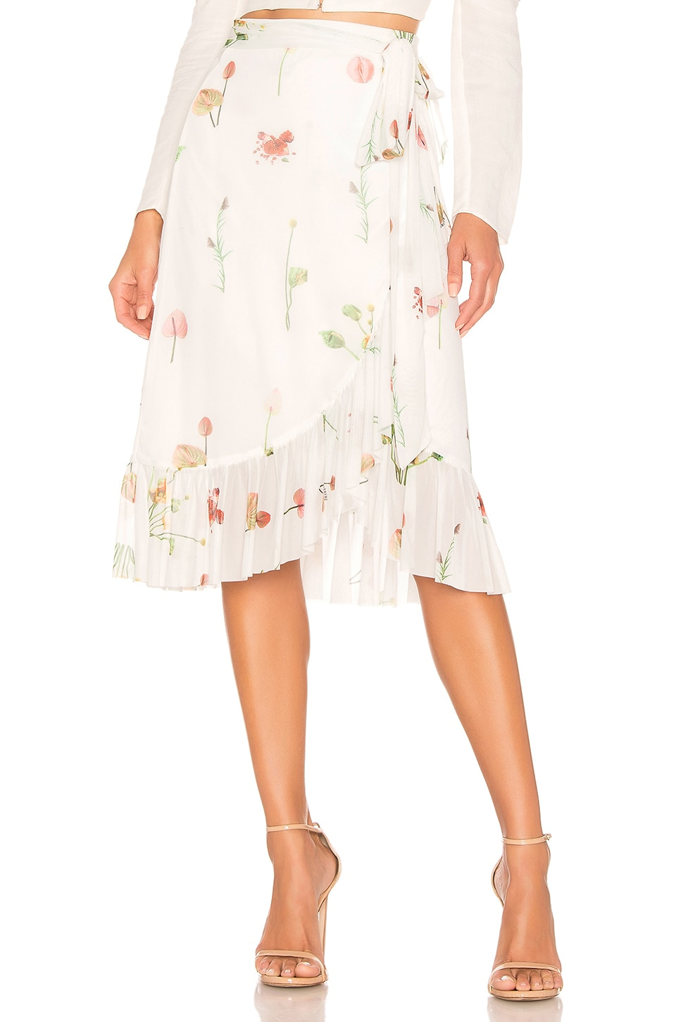 Aeryne Mellie Skirt in Fleures Sauvages Blanc