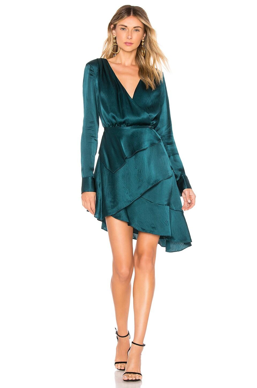 AUTEUR X Revolve Poppy Dress in Dark Green