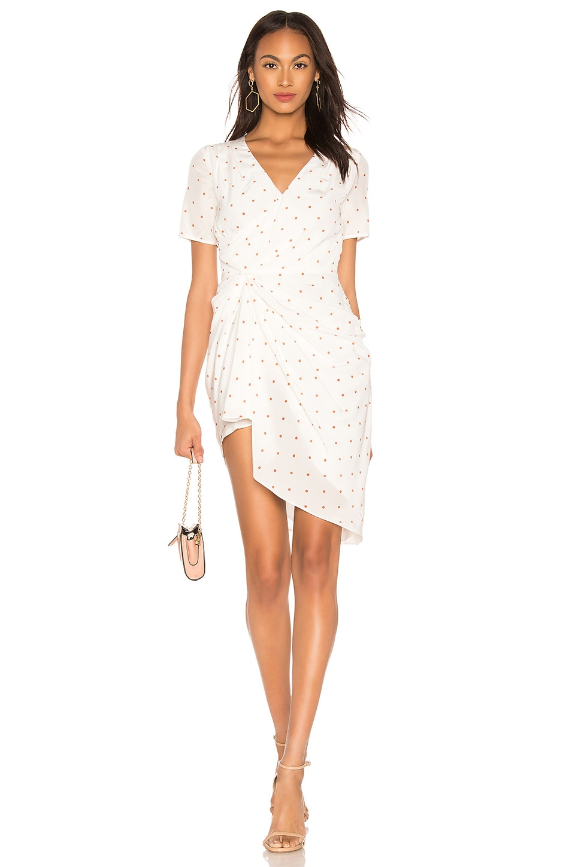 Auteur Krista Dress in Dot Print Tan