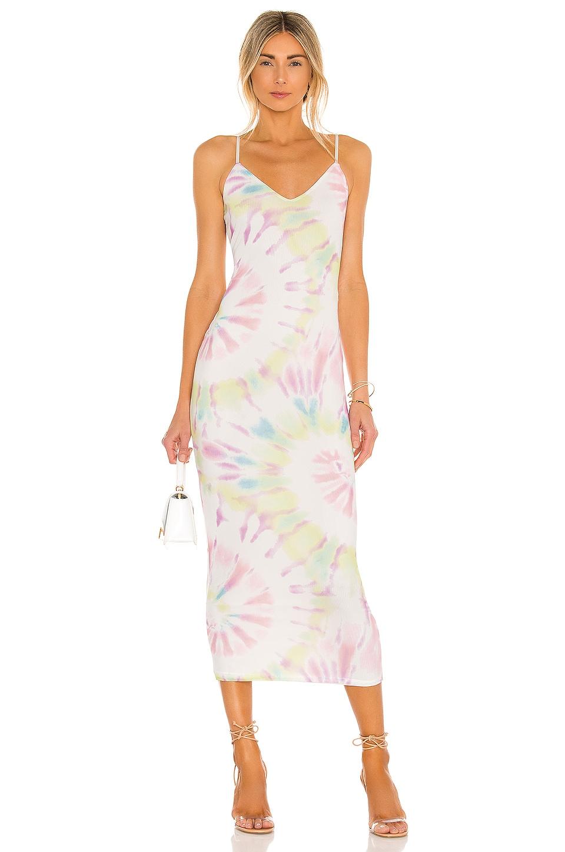 AFRM Amina Dress in Blanc Spiral Tie Dye