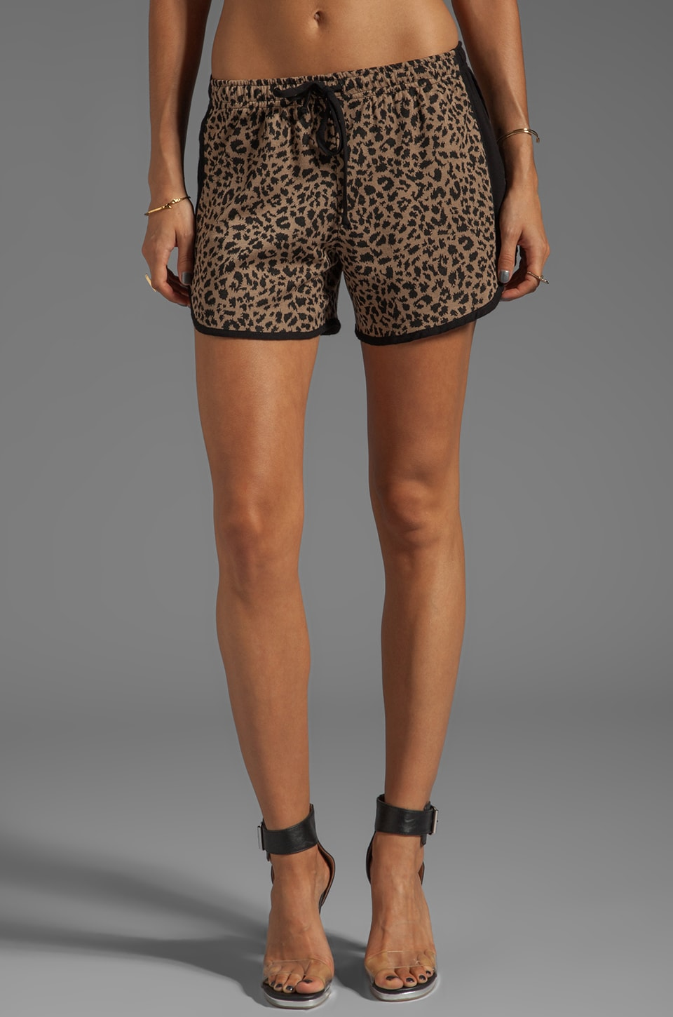 A Fine Line Ben Shorts in Leopard Tan
