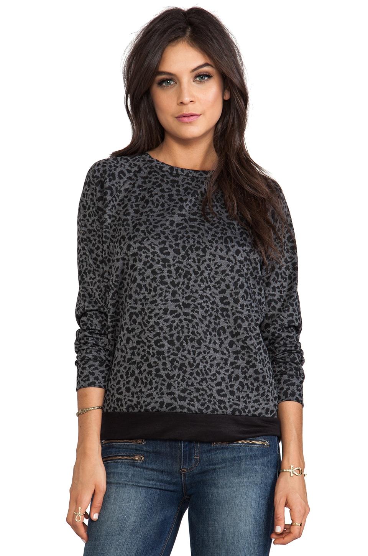 A Fine Line Mona Sweatshirt in Silver Leopard