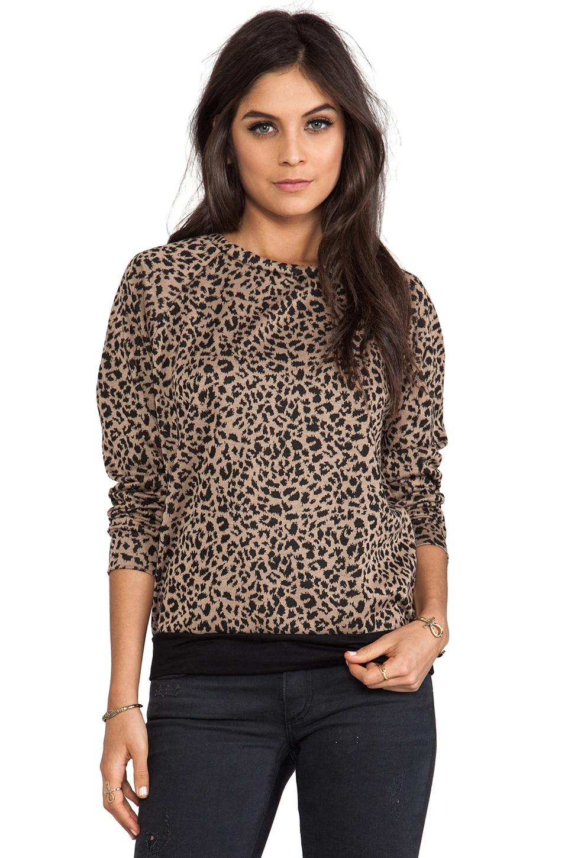 A Fine Line Mona Sweatshirt in Leopard Tan