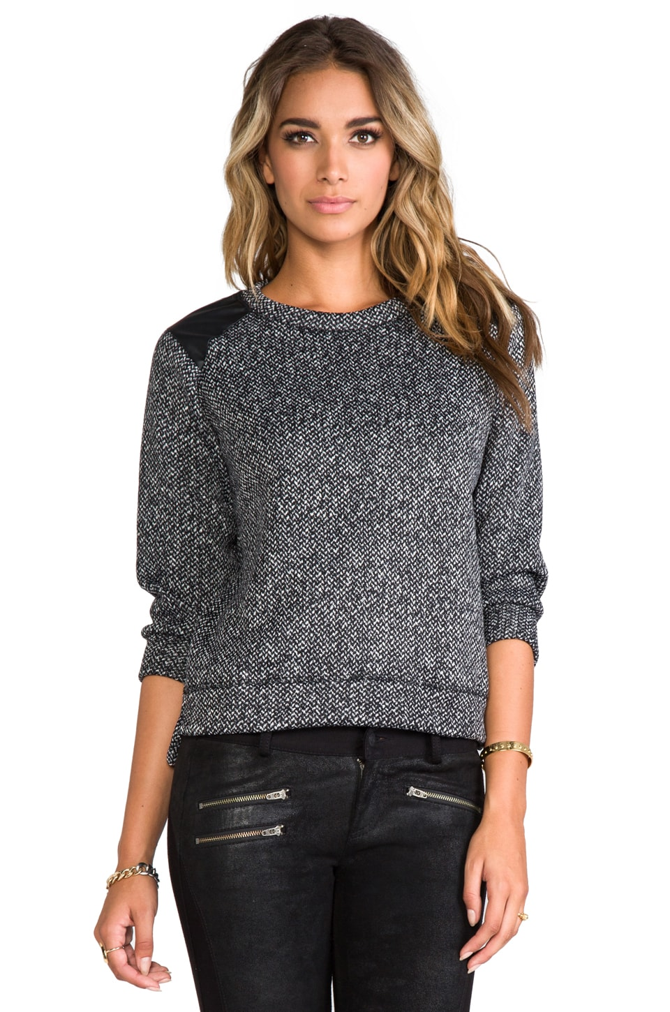 A Fine Line Alexandra Sweatshirt in Tweed