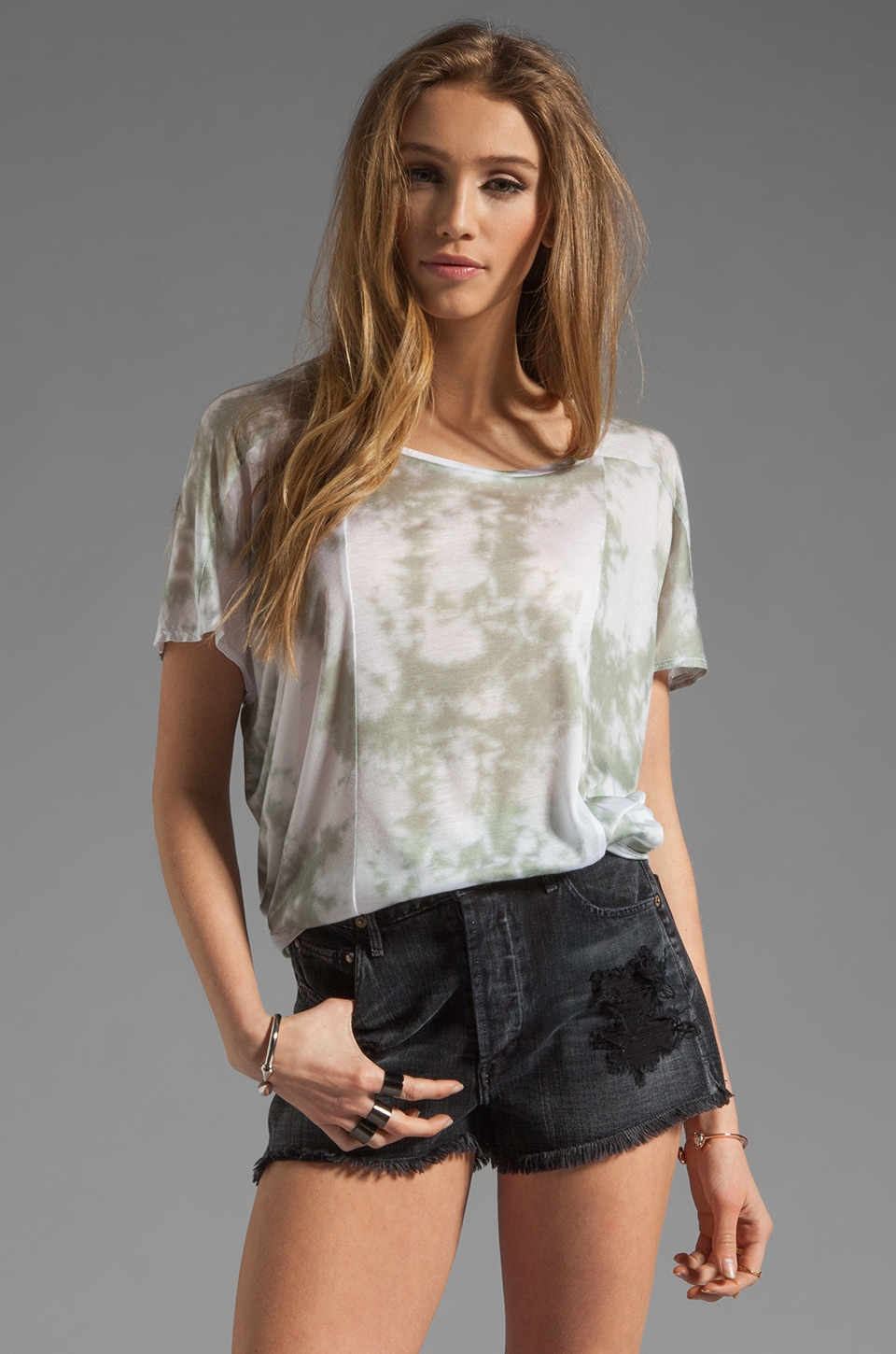 A Fine Line Quinn Top in Charcoal Ink