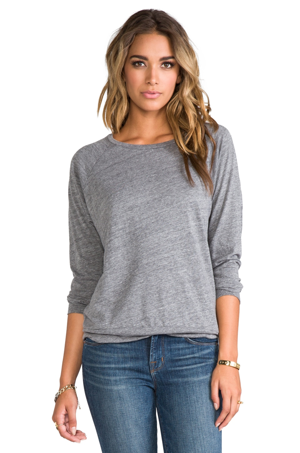 A Fine Line Mona Long Sleeve in Heather Grey