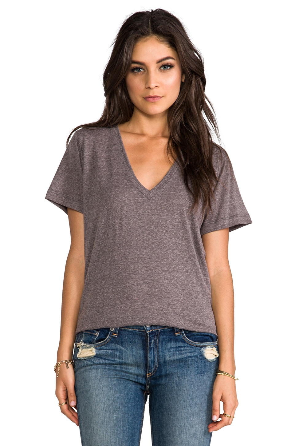 A Fine Line Levi Tee in Heather Grey