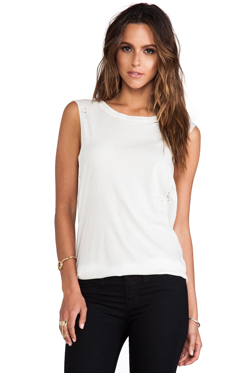 A Fine Line Terra Distressed Tank in White