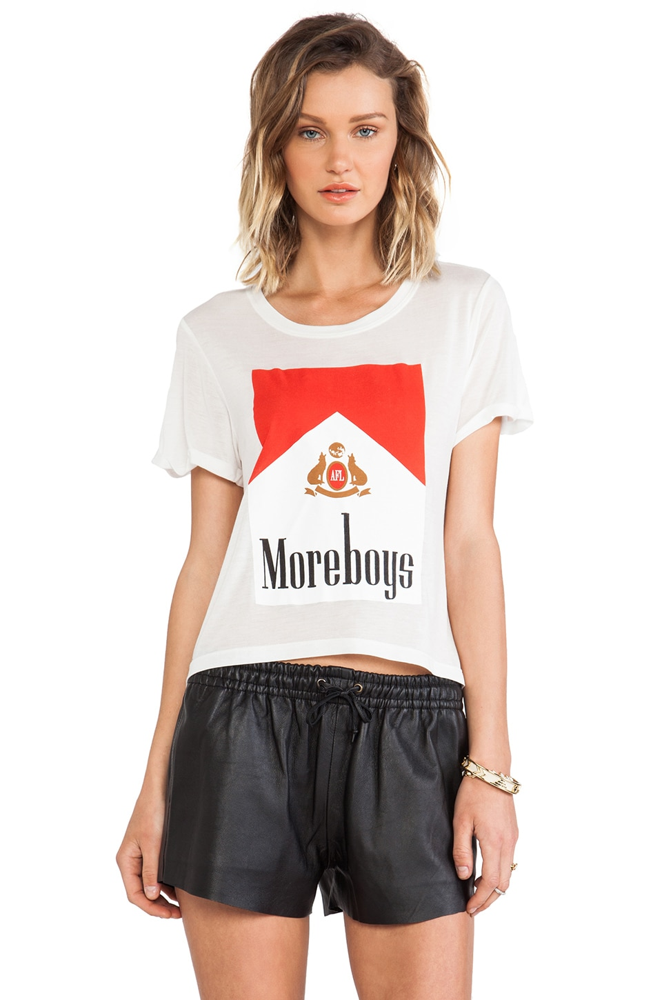 A Fine Line More Boys Crop Tee in White