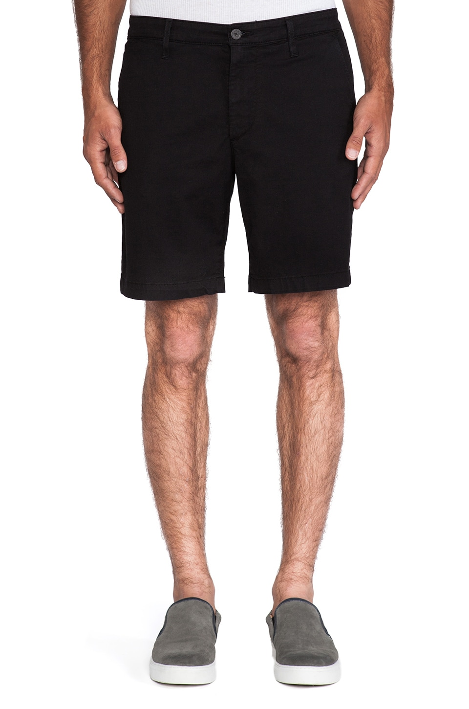 AG Adriano Goldschmied Slim Khaki Short in Black