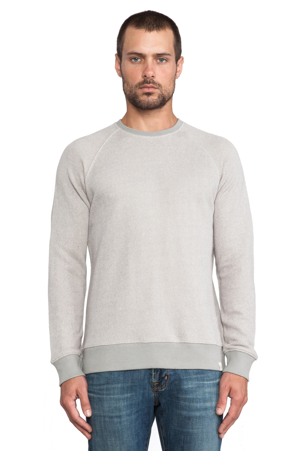 AG Adriano Goldschmied Notch Sweater in Gull Grey