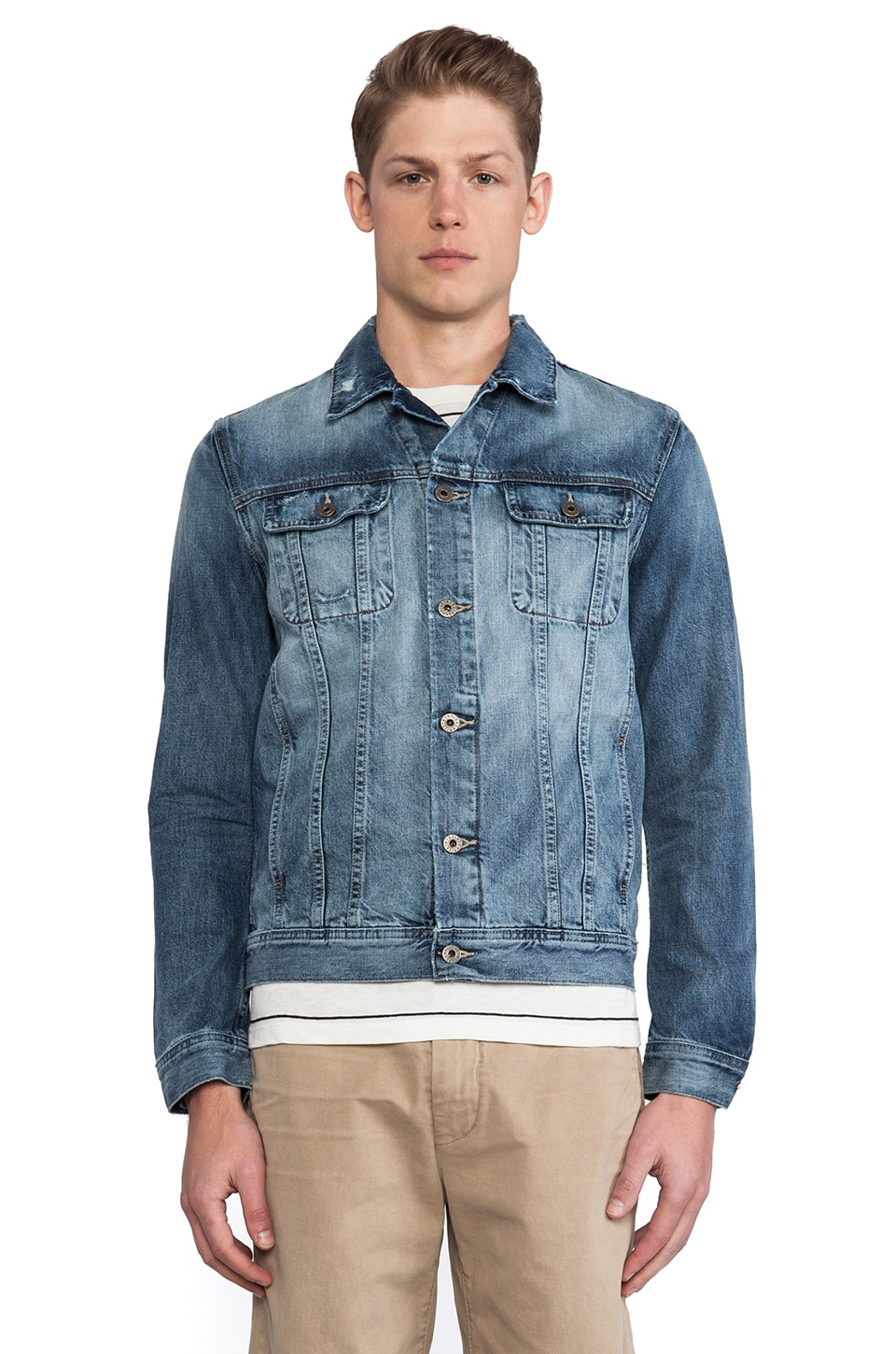 AG Adriano Goldschmied Dart Denim Jacket in Cyclone
