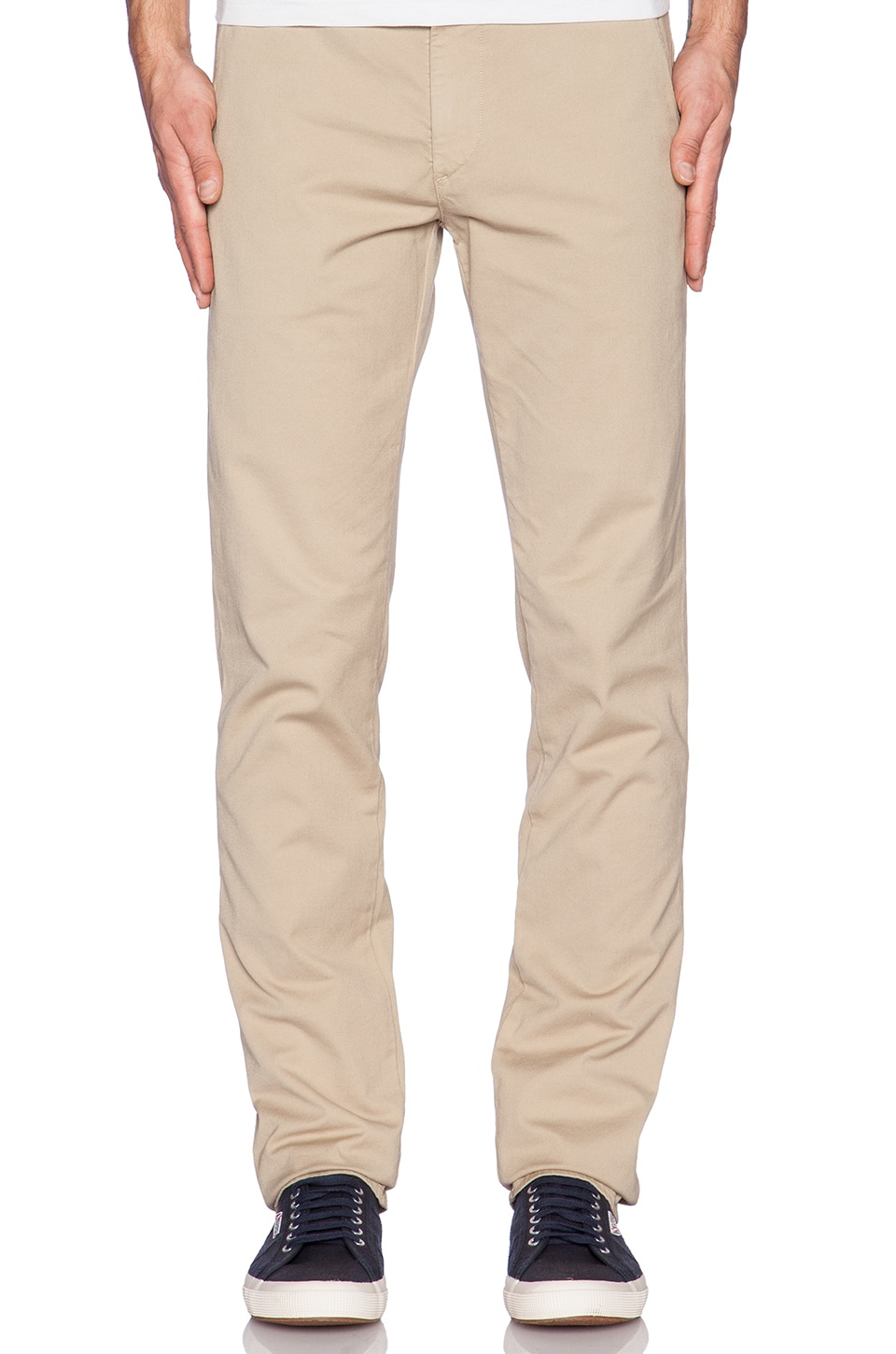 AG Adriano Goldschmied The Slim Khaki in Light Khaki