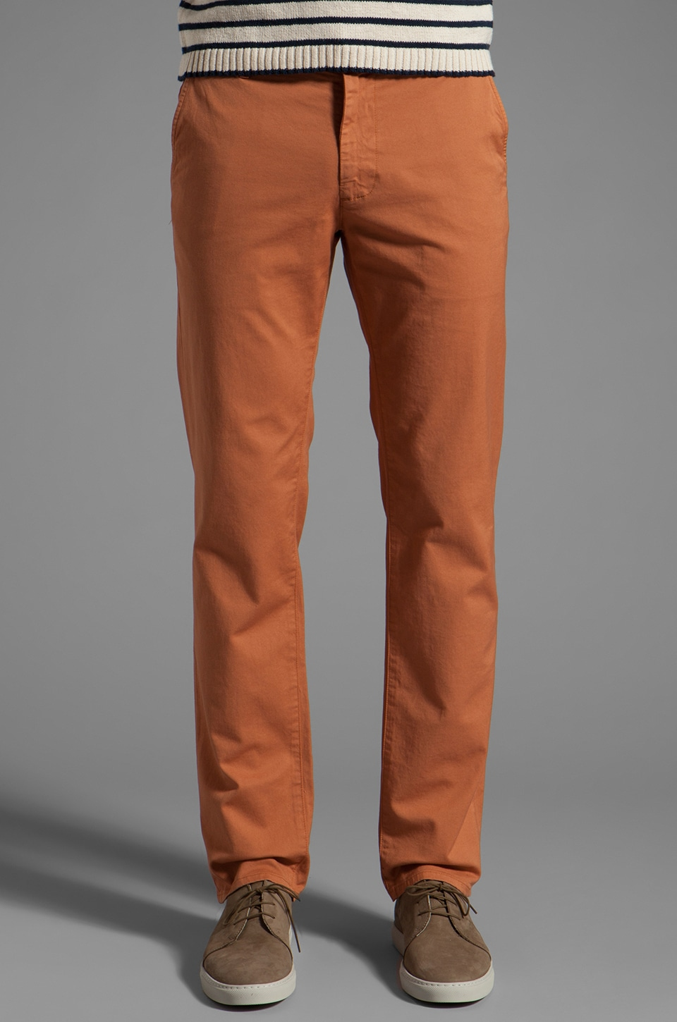 AG Adriano Goldschmied The Slim Khaki in Roadster Orange