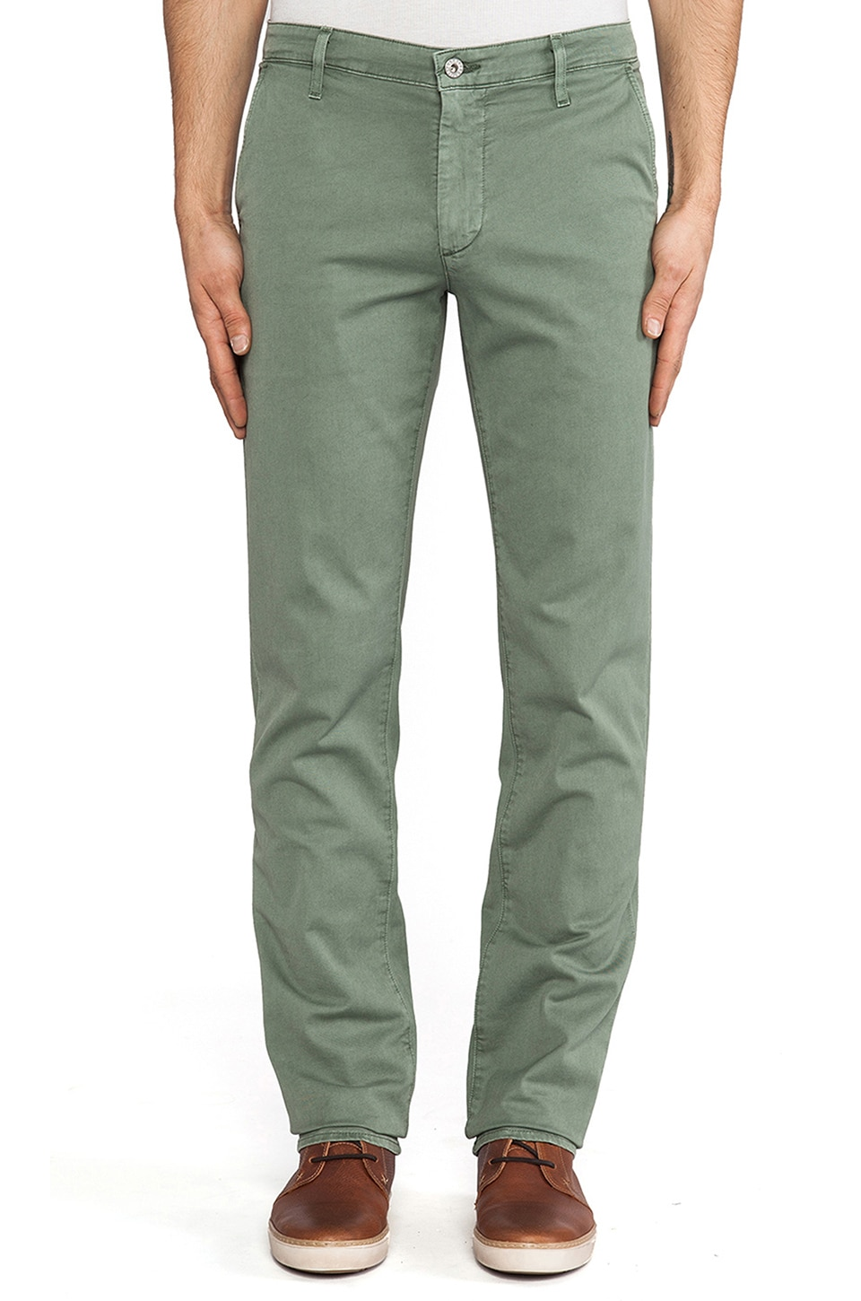 AG Adriano Goldschmied The Slim Khaki in Sulfur Basil