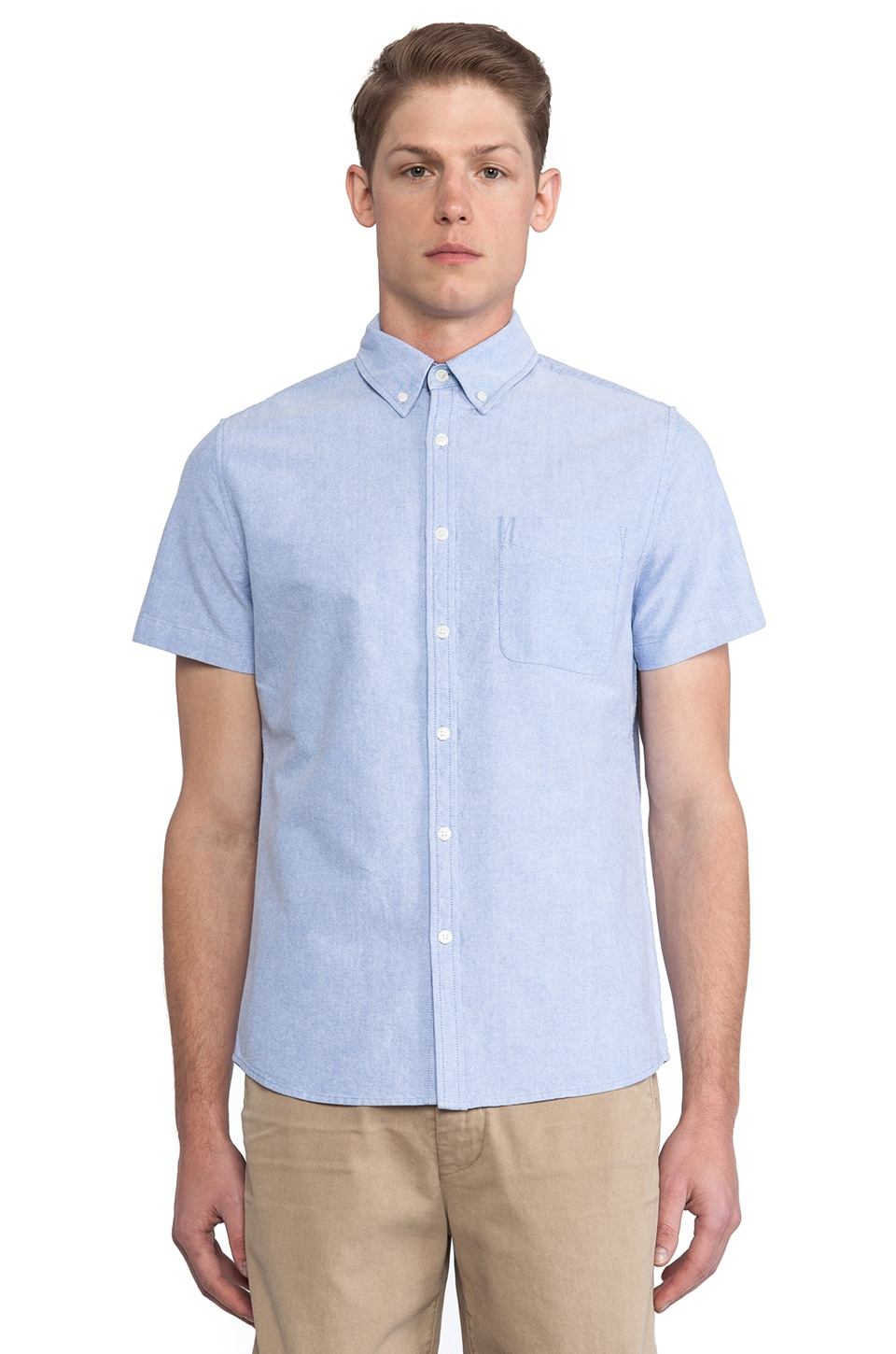 AG Adriano Goldschmied Aviator Shirt in Oxford Blue