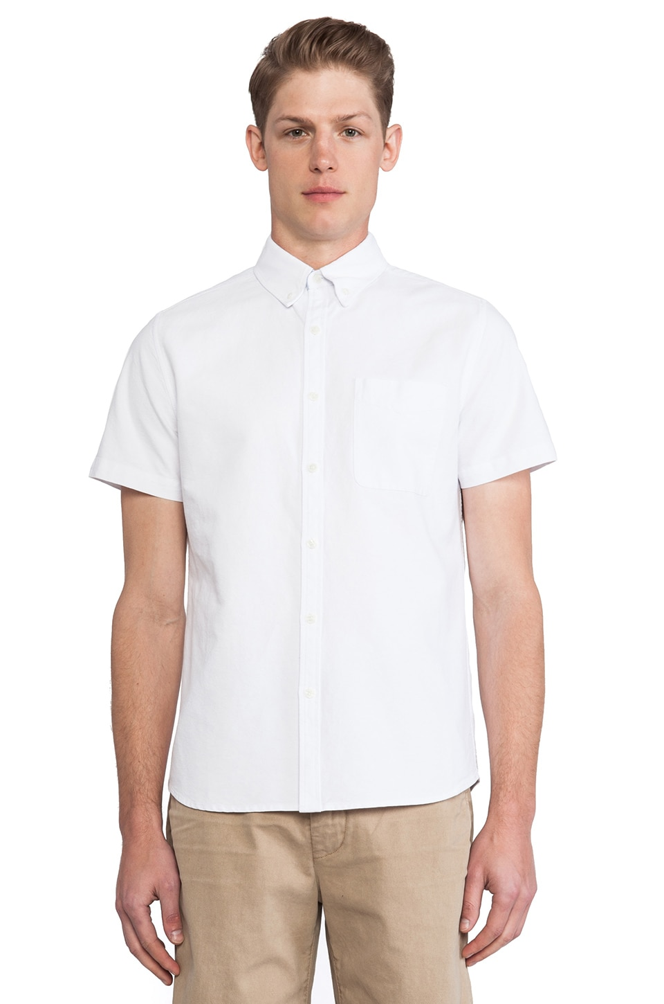 AG Adriano Goldschmied Aviator Shirt in Oxford White