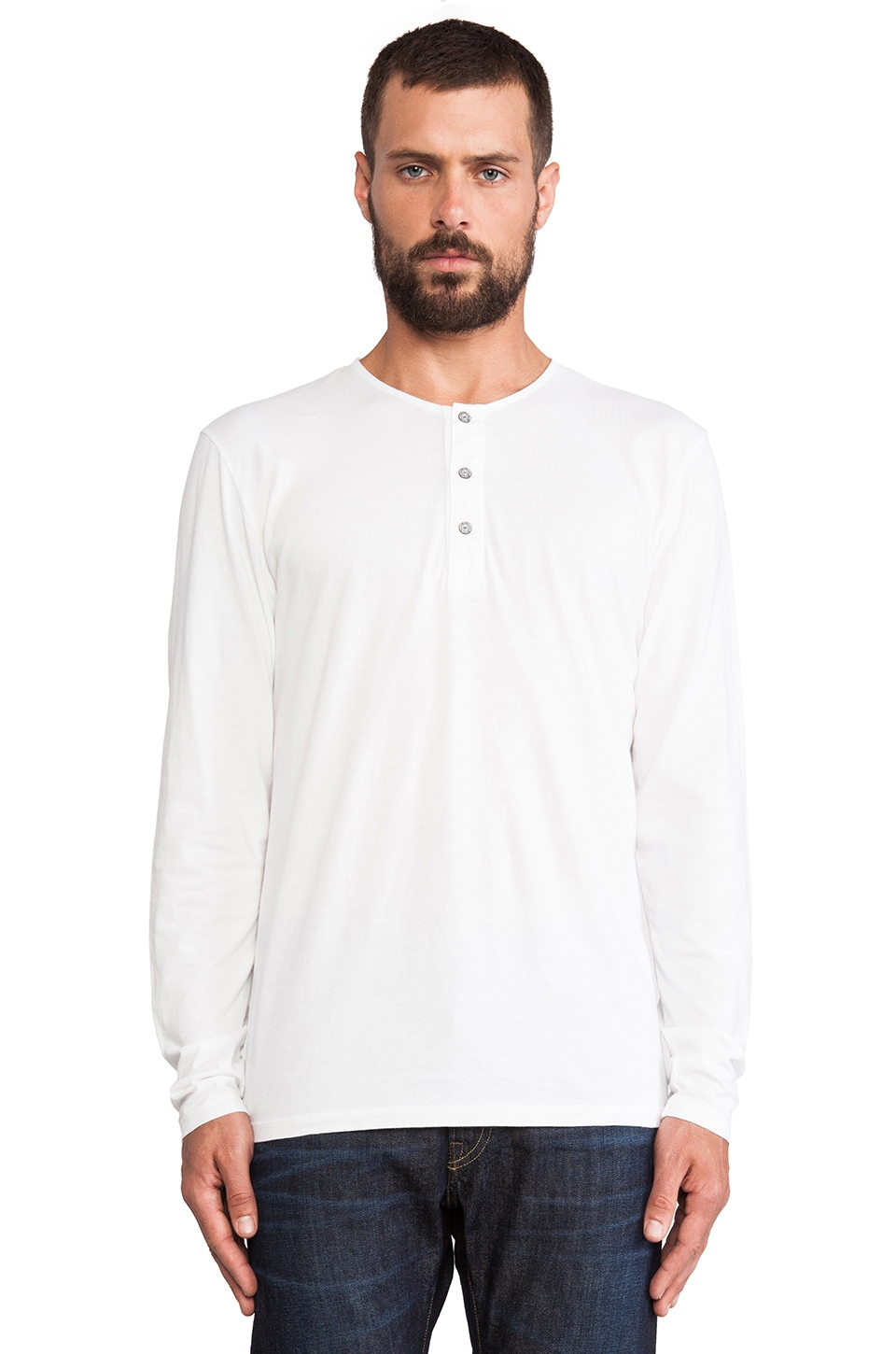 AG Adriano Goldschmied Commute Henley in True White