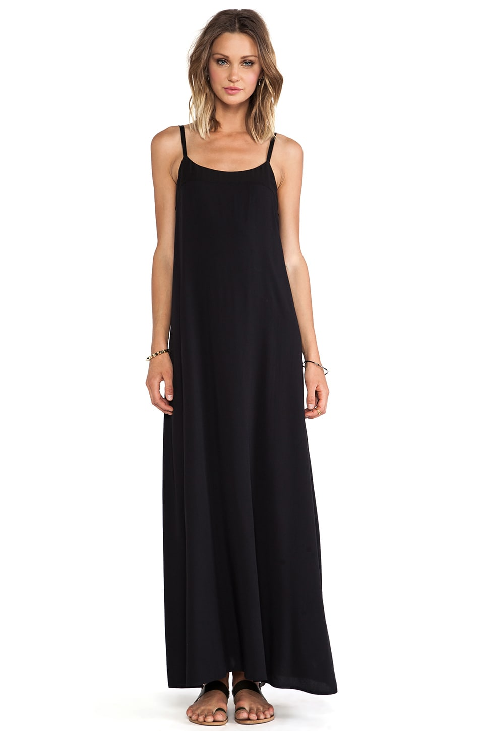 AG Adriano Goldschmied Interval Maxi Dress in True Black