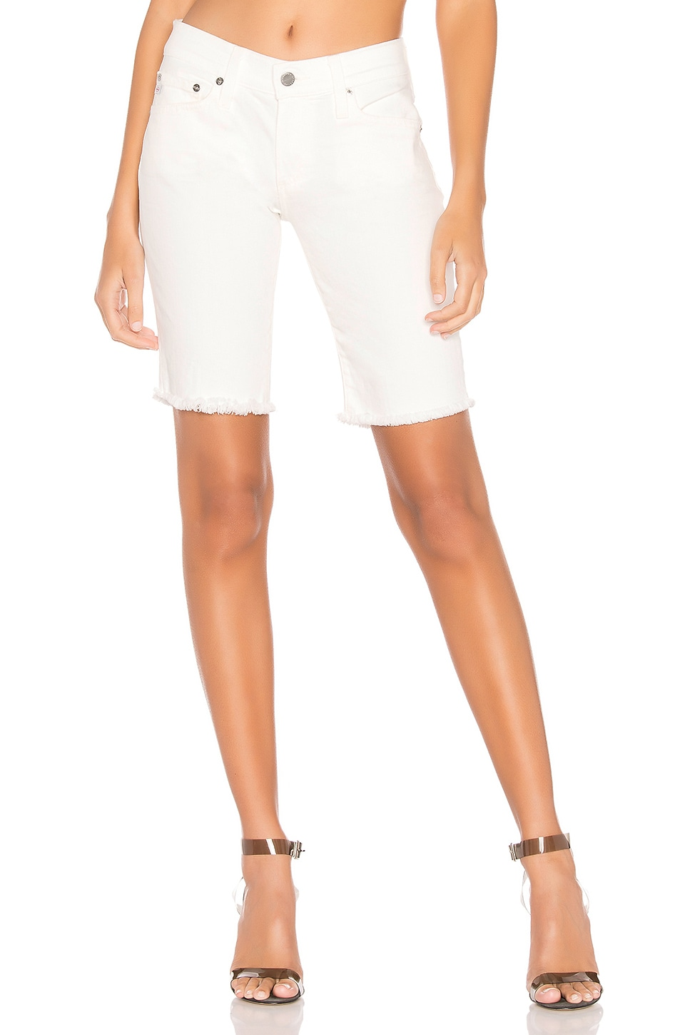 AG Adriano Goldschmied Nikki Short in 1 Year Tonal White