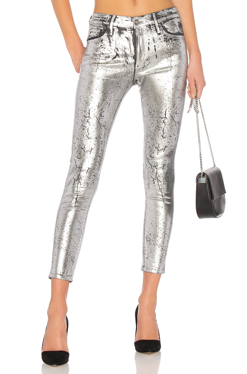 AG Adriano Goldschmied Farrah Skinny in Iced Silver