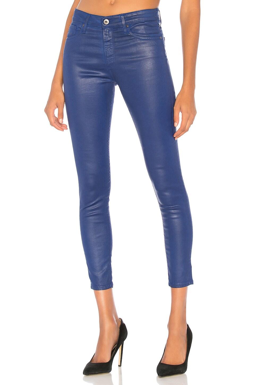 AG Adriano Goldschmied Farrah Skinny Ankle en Leatherette It Egyptian Blue