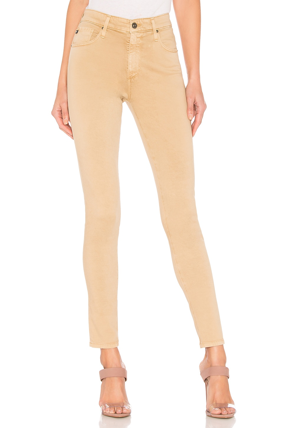 AG Adriano Goldschmied Farrah Skinny Ankle in Sulfur Toasted Almond