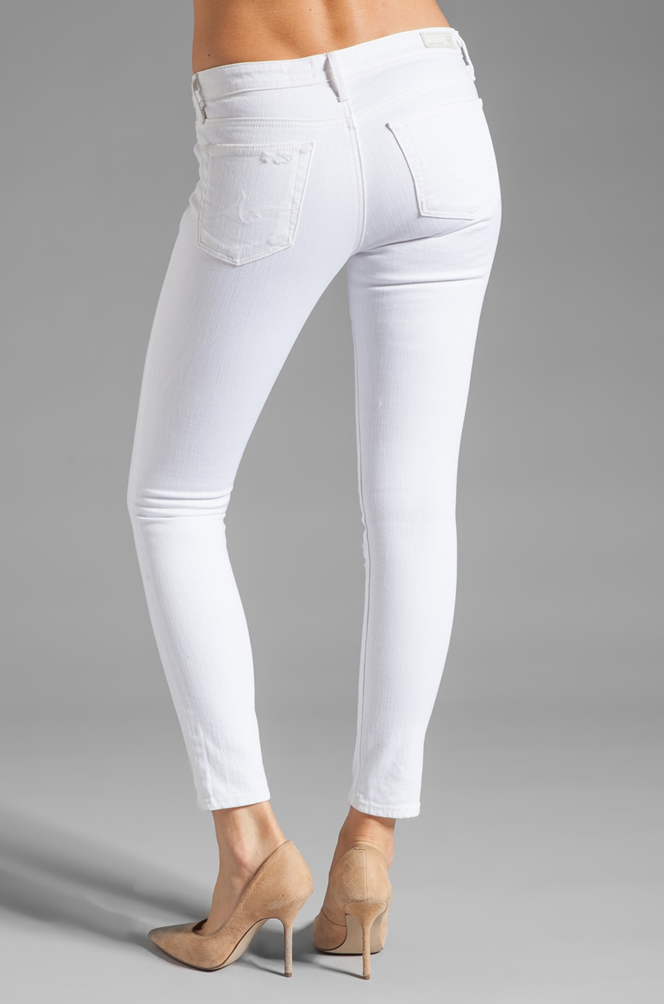 AG Adriano Goldschmied The Legging Ankle in White | REVOLVE