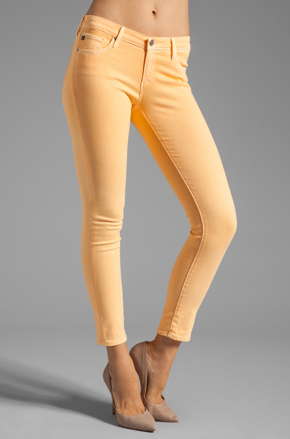 AG Adriano Goldschmied The Ankle Legging in Pigment Peach