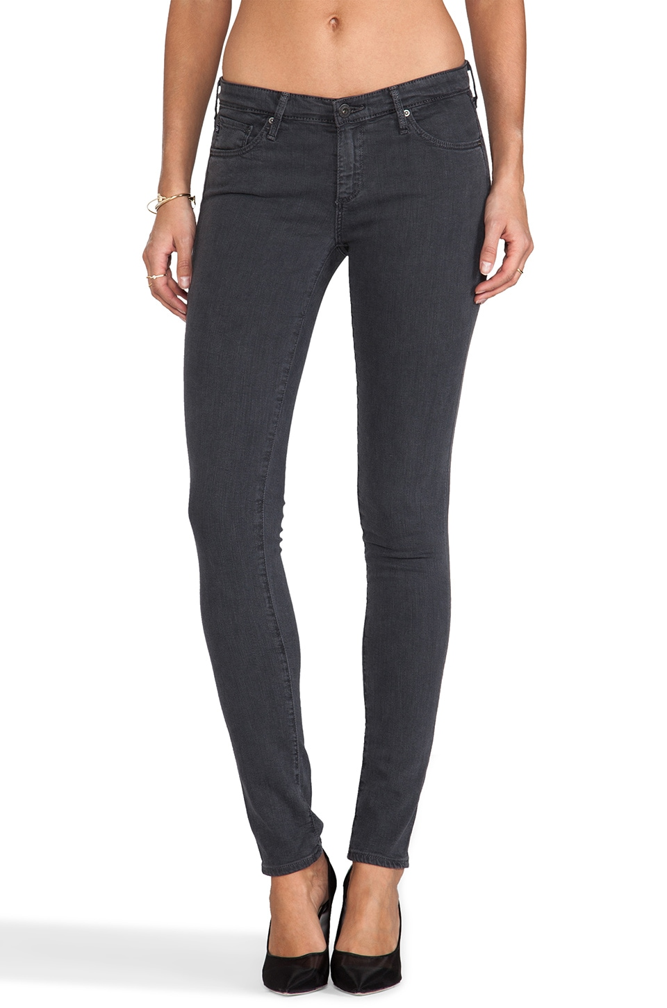 AG Adriano Goldschmied The Legging Grey in Sulfur Dark Charcoal