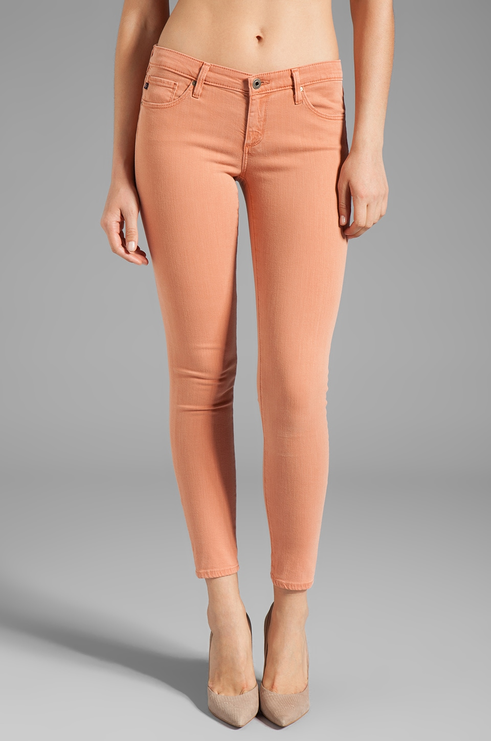 AG Adriano Goldschmied The Legging Super Skinny Ankle in Sulfure Whisper Pink