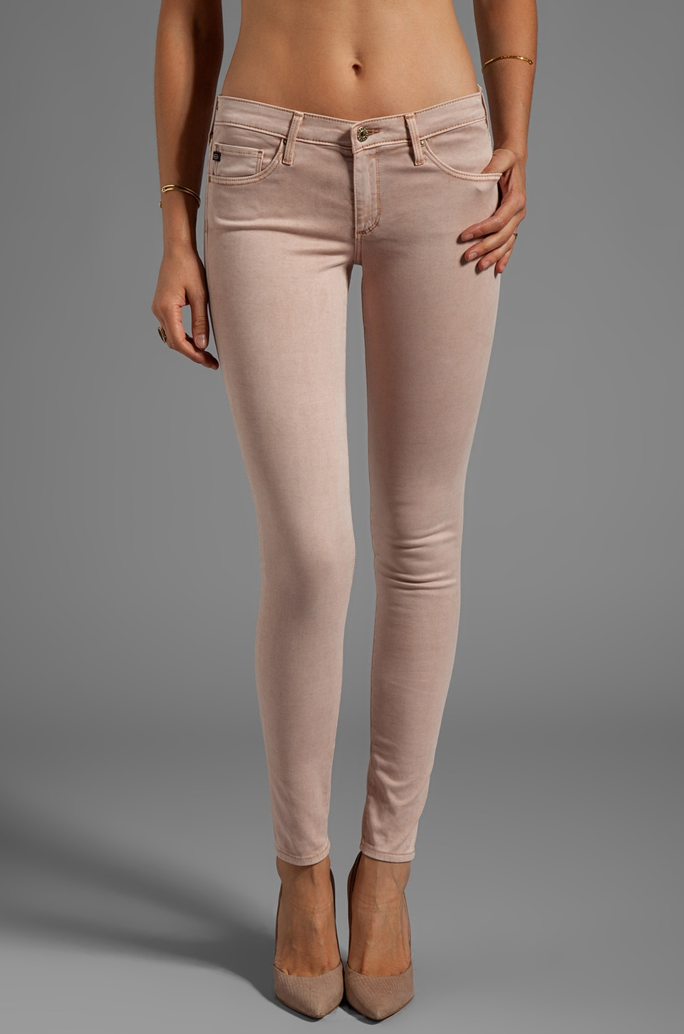 AG Adriano Goldschmied The Absolute Legging in Pigment Blush