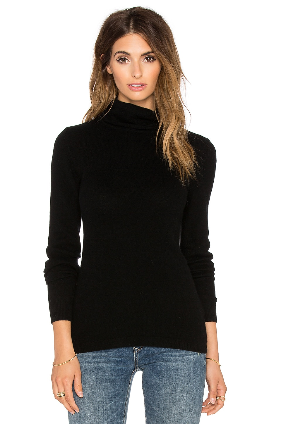 AG Adriano Goldschmied Hayden Cashmere Sweater in Black