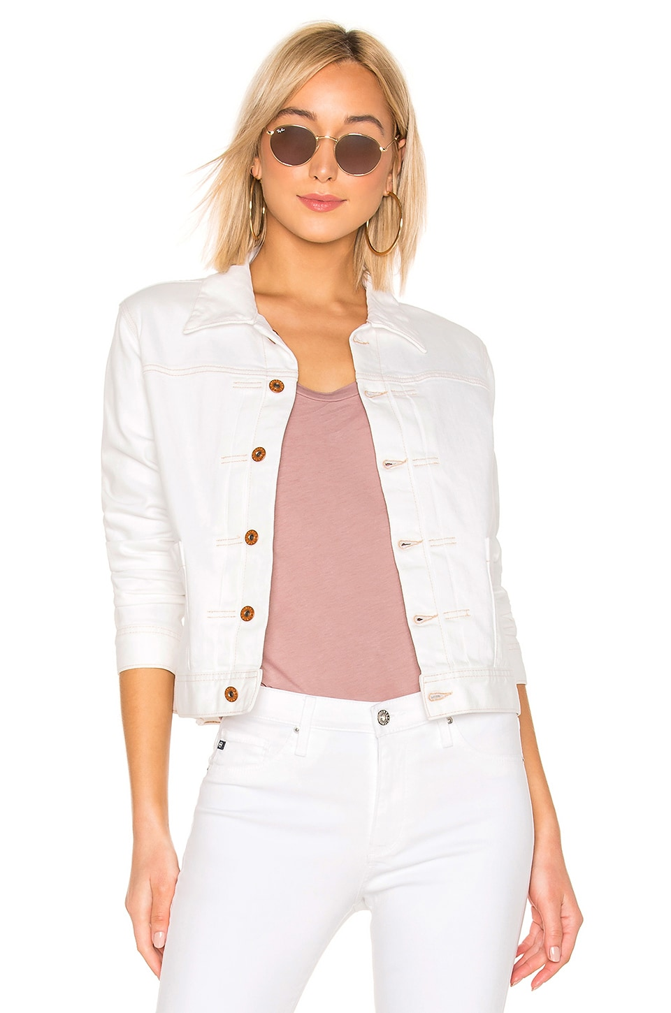 AG Adriano Goldschmied Eliette Jacket in 1 Year Bare White