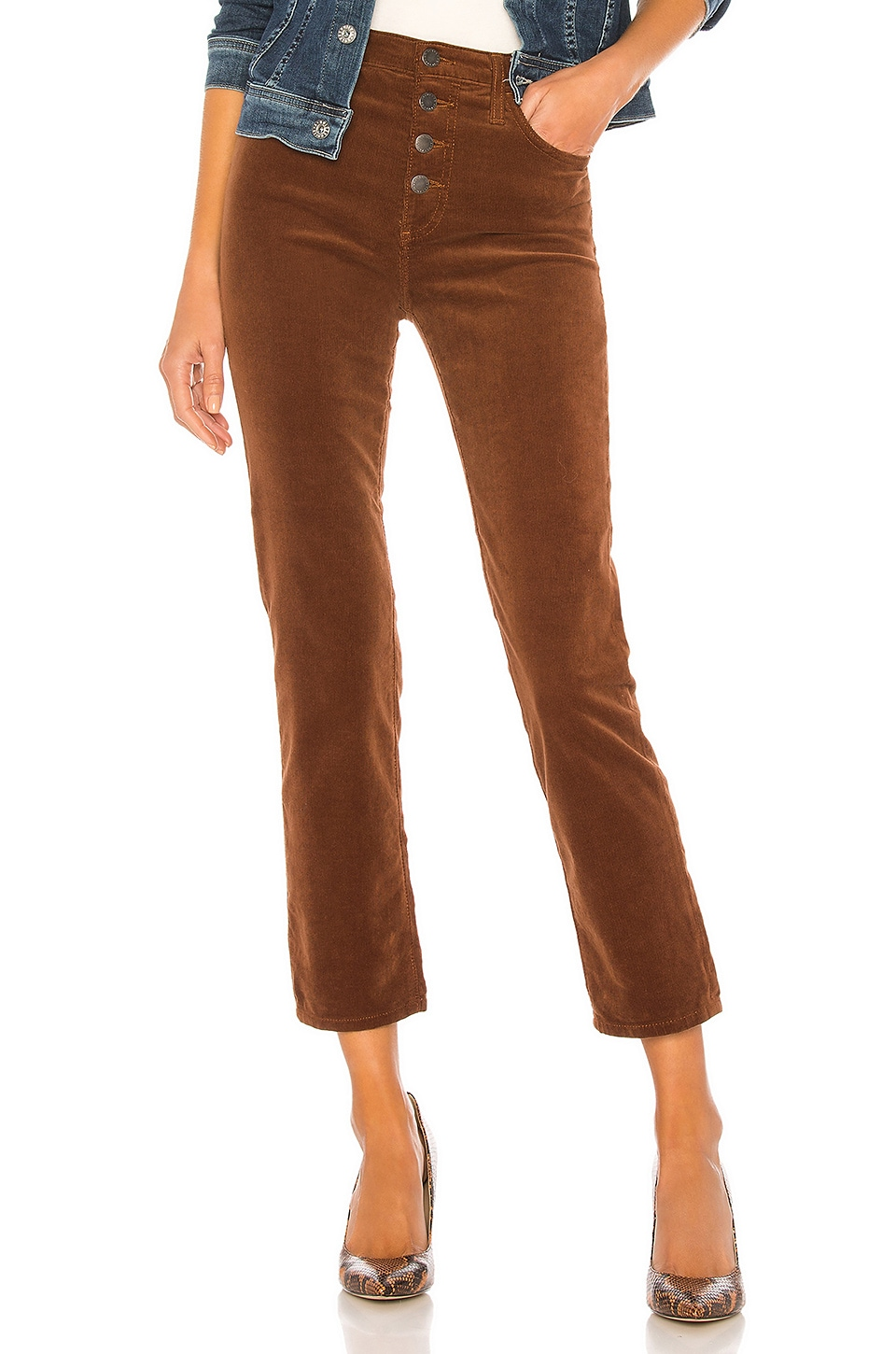 AG Adriano Goldschmied Isabelle Button Up Pant in Dusty Auburn
