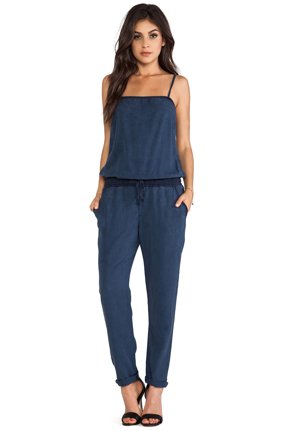 AG Adriano Goldschmied Weekend Romper in Sulfur Calm Blue