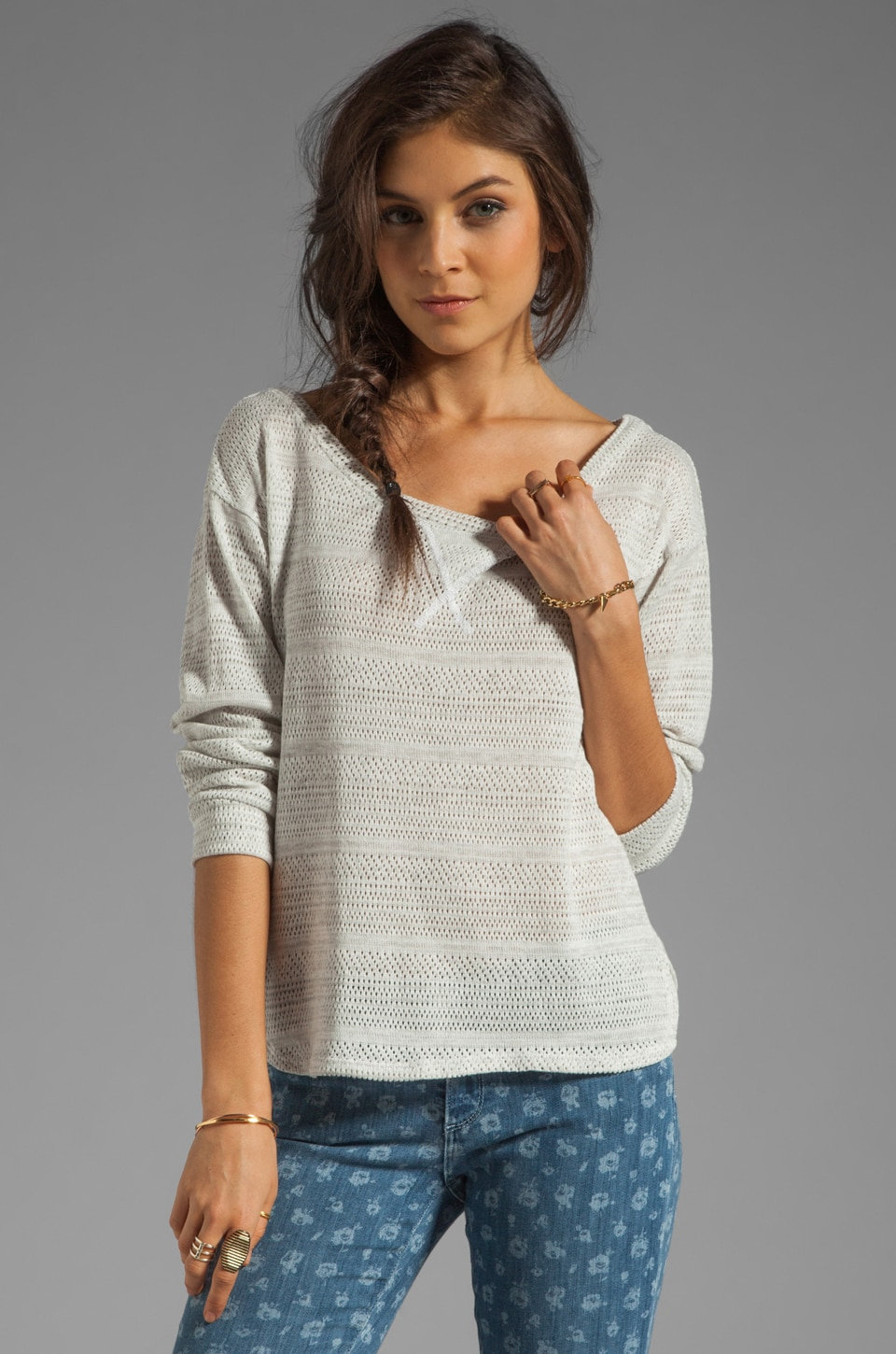 AG Adriano Goldschmied Relaxed Pullover in Heather