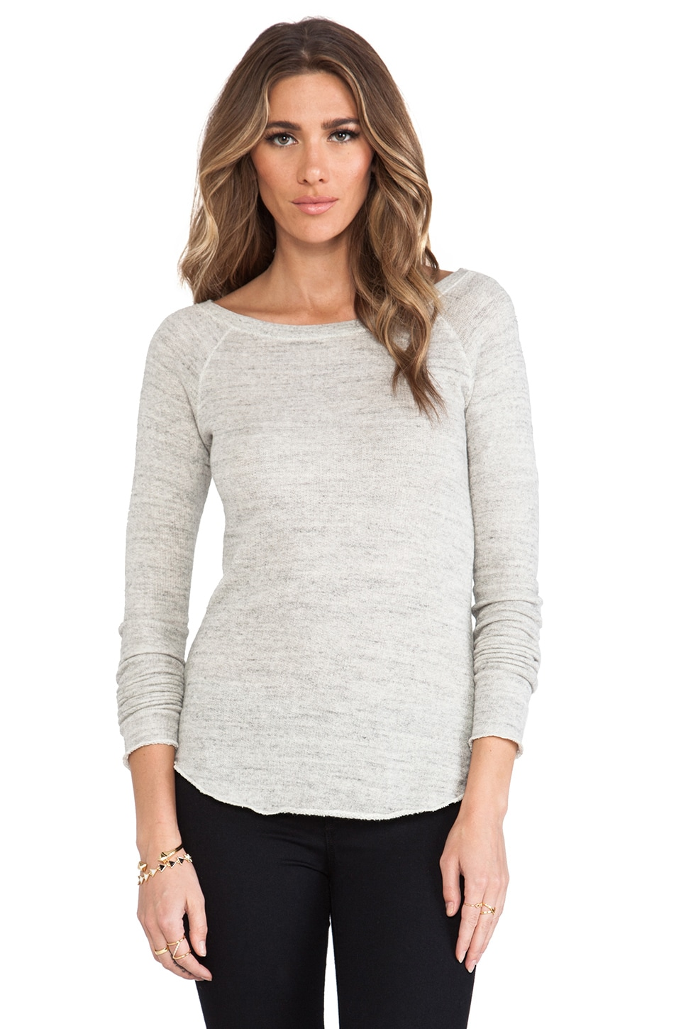 AG Adriano Goldschmied Sweat raglan en Gris Chiné